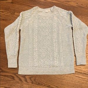 GUC Gap Mint Green Marled Cable Knit Sweater; Sz M